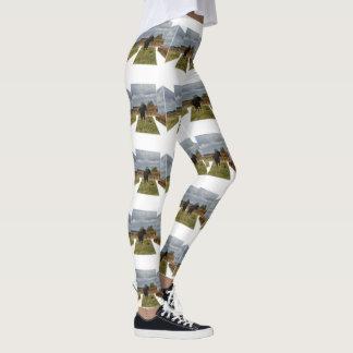 Black Runaway Cow Dimensional Art, White Leggings