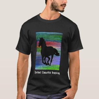 Black Running Horse T-Shirt