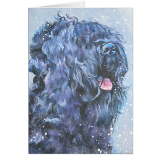 Black Russian Terrier Christmas Card