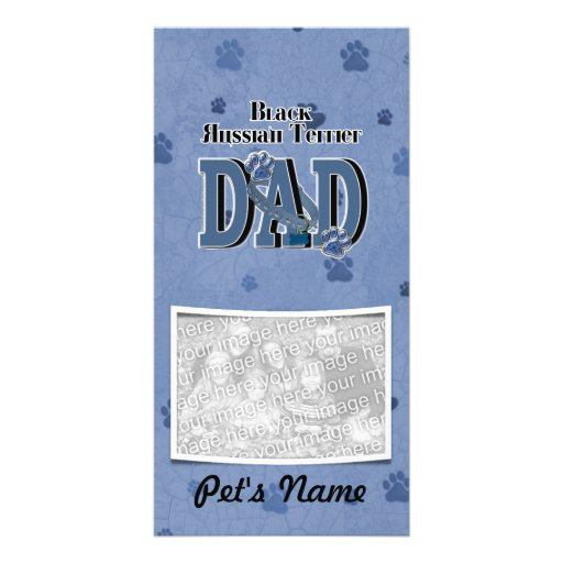 Black Russian Terrier DAD Personalized Photo Card