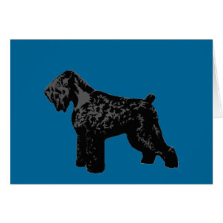 Black Russian Terrier Greeting Card