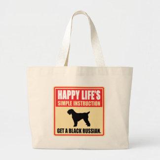 Black Russian Terrier Jumbo Tote Bag