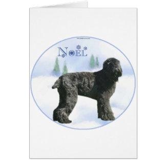 Black Russian Terrier Noel Card