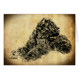 Black Russian Terrier Old Time Card