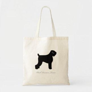 Black Russian Terrier Tote Bag (black docked)