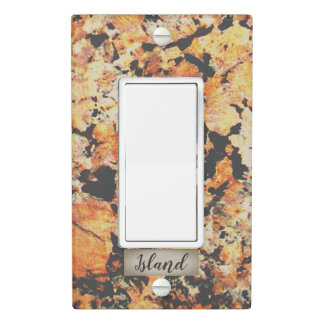 Black, Rust and Grey Pattern Granite Light Switch Cover