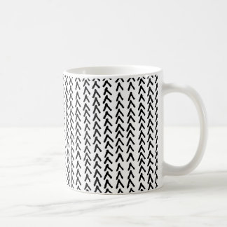 Black Rustic Tribal Pattern Mug