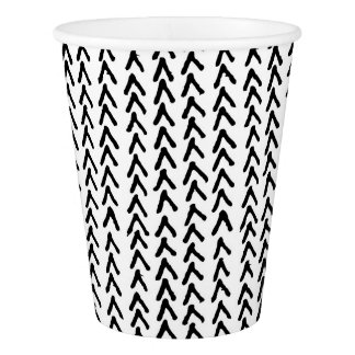 Black Rustic Tribal Pattern Paper Cups