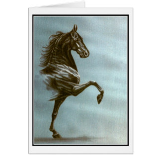 Black Saddlebred Card