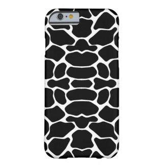 Black Safari Giraffe Barely There iPhone 6 Case