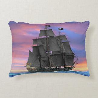 Black Sails of the Seven Seas Decorative Pillow
