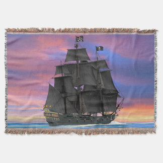 Black Sails of the Seven Seas Throw Blanket