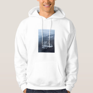 Black sand beach and ice, Iceland Hoodie