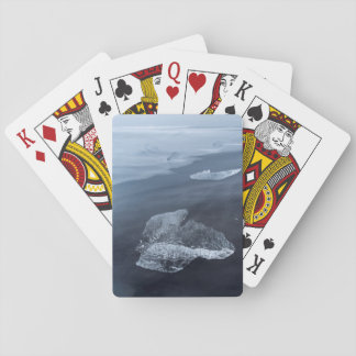 Black sand beach and ice, Iceland Playing Cards