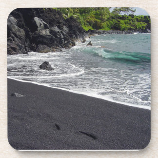 Black Sand Beach Hana, Maui Drink Coaster