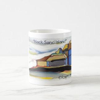 Black Sand Island  by Rayhart Coffee Mug