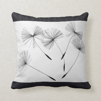 Black Sand's Dandelion Throw Pillow