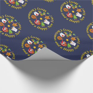 Black Santa Claus and other Christmas characters, Wrapping Paper