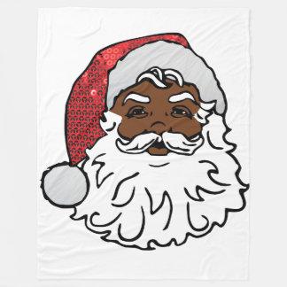black santa claus blanket