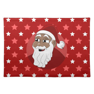 Black Santa Claus Cartoon Placemat