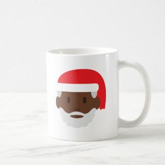 black santa claus emoji coffee mug