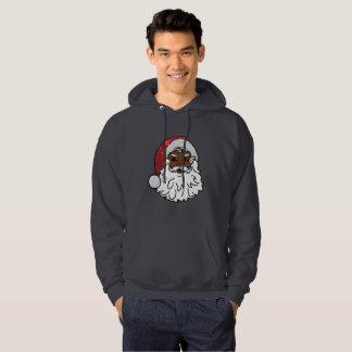 black santa claus mens hooded hoodie sweatshirt