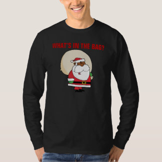 Black Santa Claus with Toy Sack T-Shirt