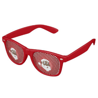 Black Santa Clause cartoon Retro Sunglasses