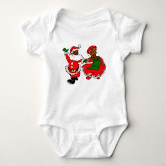 black santa mrs claus baby bodysuit
