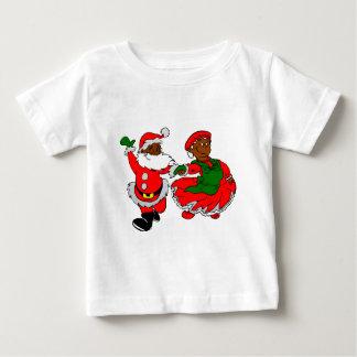 black santa mrs claus baby T-Shirt