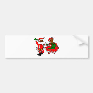 black santa mrs claus bumper sticker