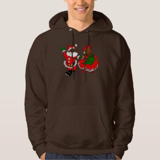 black santa mrs claus hoodie