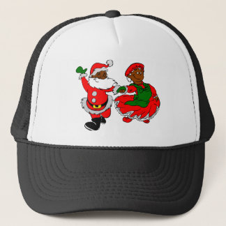 black santa mrs claus trucker hat