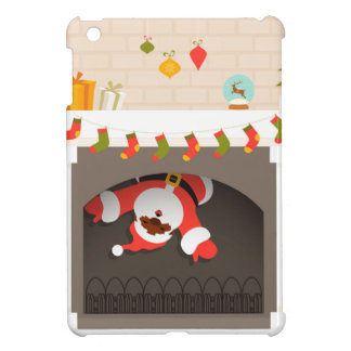 black santa stuck in fireplace iPad mini covers