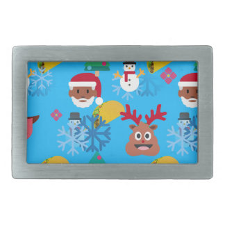 black santa taco christmas rectangular belt buckle