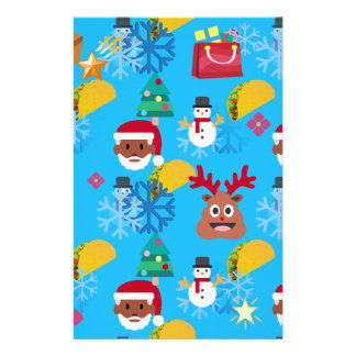 black santa taco christmas stationery
