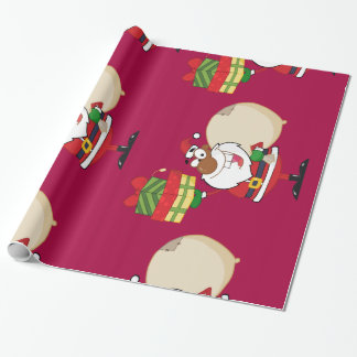 Black Santa with Gifts Wrapping Paper