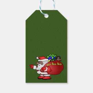 Black Santa Yo Ho Ho Ho BSYHH gift tags