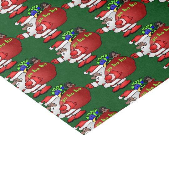 Black Santa Yo Ho Ho Ho BSYHH Tissue Paper