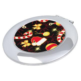 Black - Santa's cap Compact Mirror