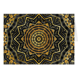 Black sapphire mandala card