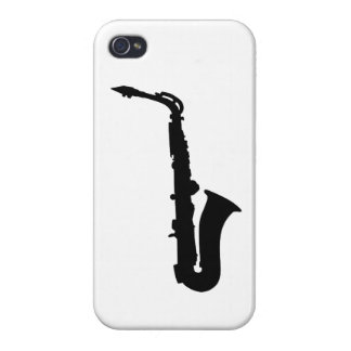 Black saxophone instrument case for iPhone 4