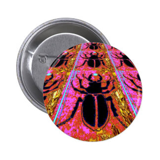 Black Scarab Bug Nature Gifts by Sharles Buttons