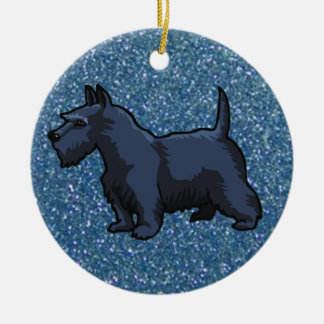 black schnauzer ceramic ornament