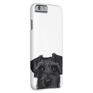 Black schnauzer, Original painting and design Barely There iPhone 6 Case