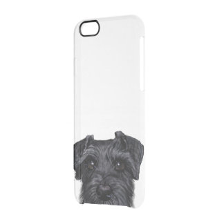 Black schnauzer, Original painting and design Clear iPhone 6/6S Case