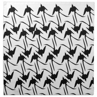 Black Scissor-Tailed Flycatchers Napkin