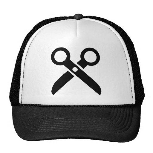 Black Scissors icon Trucker Hats