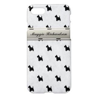 Black Scottie Dog Scottish Terrier Custom Name iPhone 7 Case