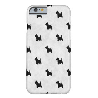 Black Scottie Dogs Tile Pattern Barely There iPhone 6 Case